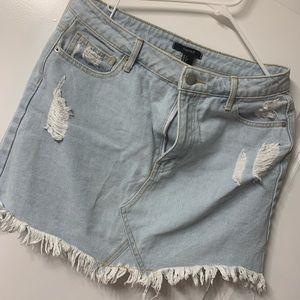 High-waisted Forever 21 Jean Skirt